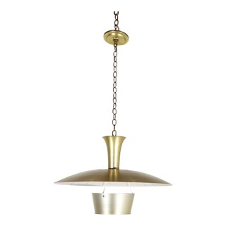Midcentury Aluminum Fixture in the Style of Lightolier For Sale