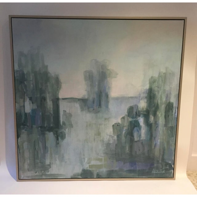 Serene Waterscape Impressionist Painting - Image 3 of 5