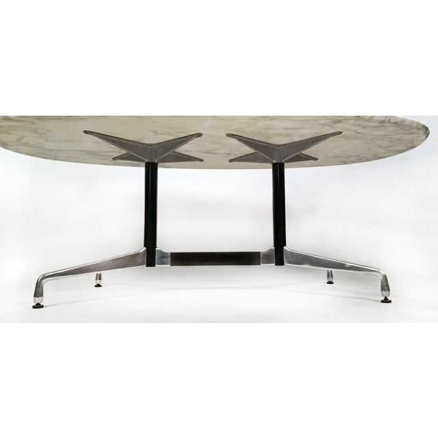 Charles Eames for Herman Miller Aluminum Group Calacatta Marble Table Desk For Sale In Dallas - Image 6 of 8
