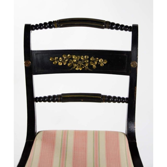 Late 19th Century Early American Hitchcock Style Dining Chairs - Set of 6 For Sale - Image 5 of 12