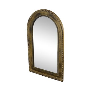 French Empire Style Gold Arched Top Mirror For Sale