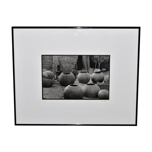 Original African Children Pottery Scene Photograph For Sale