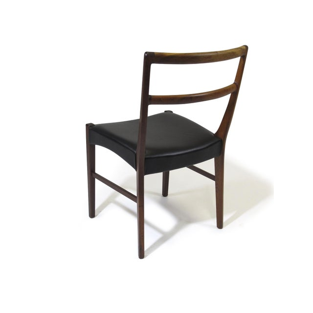Johannes Andersen for Bernhard Pedersen & Sons Rosewood Dining Chairs - Set of 8 For Sale - Image 4 of 8