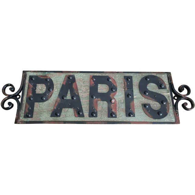 Shabby Chic Paris Sign - Image 1 of 4