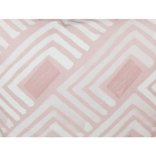 Abstract Blush Abstract Linen-Blend Pillows, a Pair For Sale - Image 3 of 6