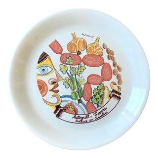 Mid Century Giovanni DeSimone Italian Pottery Plate For Sale