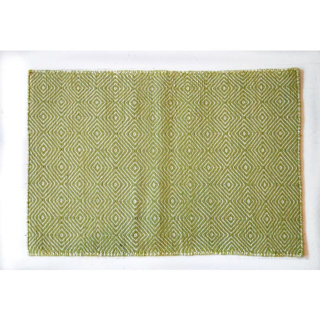 Aelfie Green & White Woven Rug - 2' X 3' - Image 3 of 3