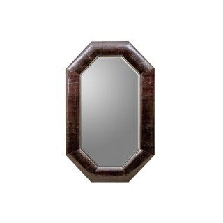 Karl Springer Tall Snakeskin Mirror For Sale