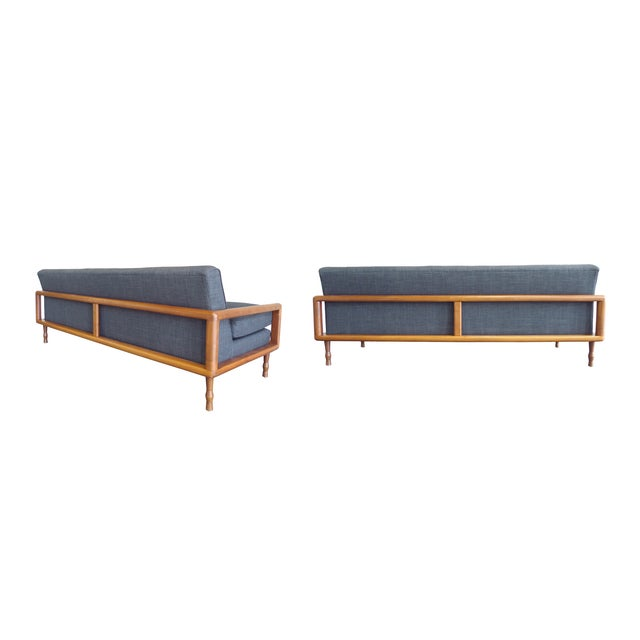 In the Style of T.H. Robsjohn-Gibbings Mid-Century Sofa & Armchair Set - Image 4 of 9