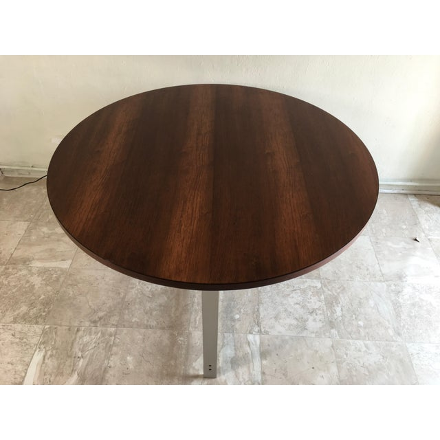 This is an incredible rosewood and aluminum table by Jørgen Kastholm & Preben Fabricius. The piece is from the 1960s. Rare...