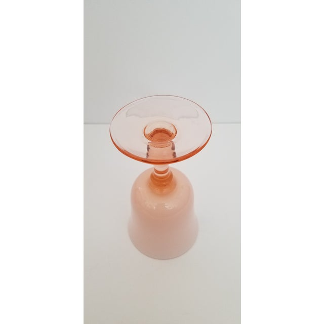 1960s Carlo Moretti Pink Cased Coupe Glasses - Set of 5 For Sale - Image 9 of 10