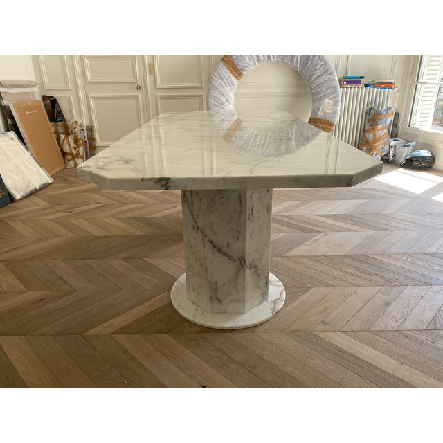 2020s Arabescato Marble Dining Table For Sale - Image 5 of 8