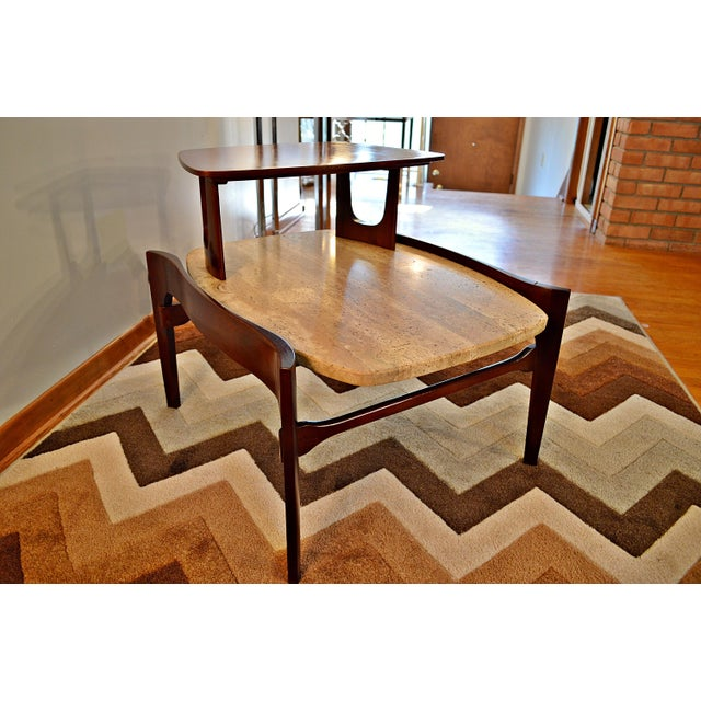 Bertha Schaefer Mid-Century Floating Marble Table - Image 7 of 7