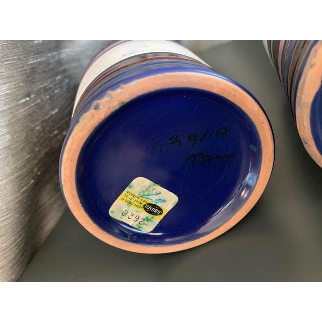 """1950s Vintage Aldo Londi """"Cambogia"""" Ceramic Vases- a Pair For Sale - Image 9 of 10"""