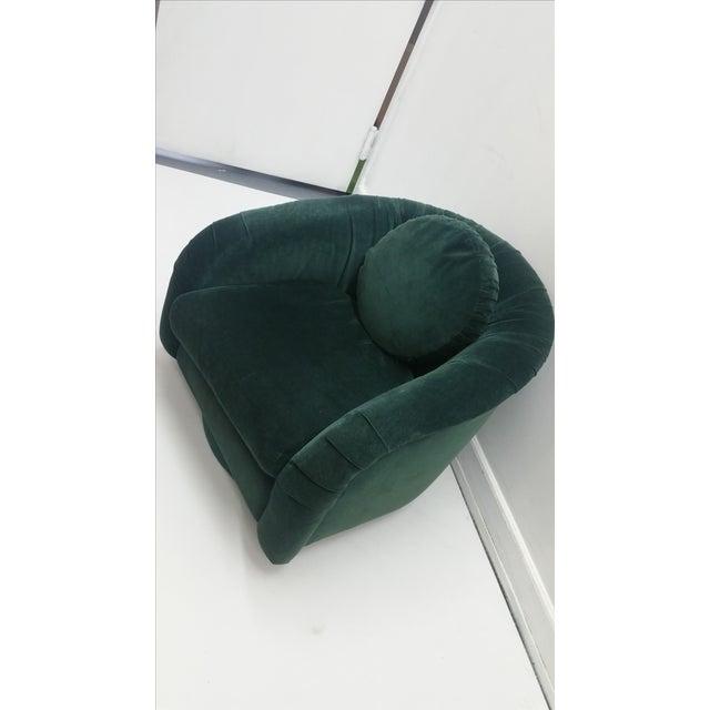 80's Rushed Velvet Swivel Chair - Image 3 of 6
