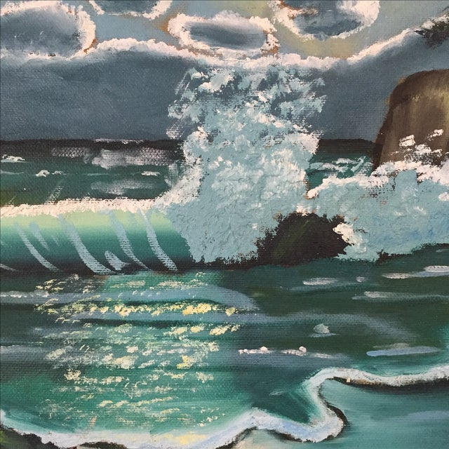 Ocean Acrylic Painting - Image 4 of 9