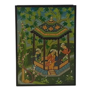 Late 20th Century Vintage Asian Influenced Lacquer Box For Sale