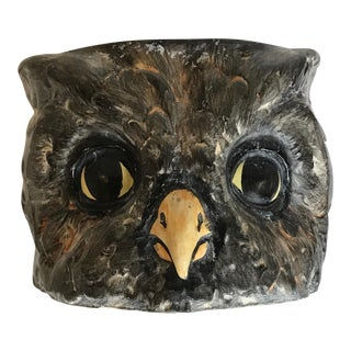 Mid Century Owl Planter Bowl Cachepot For Sale
