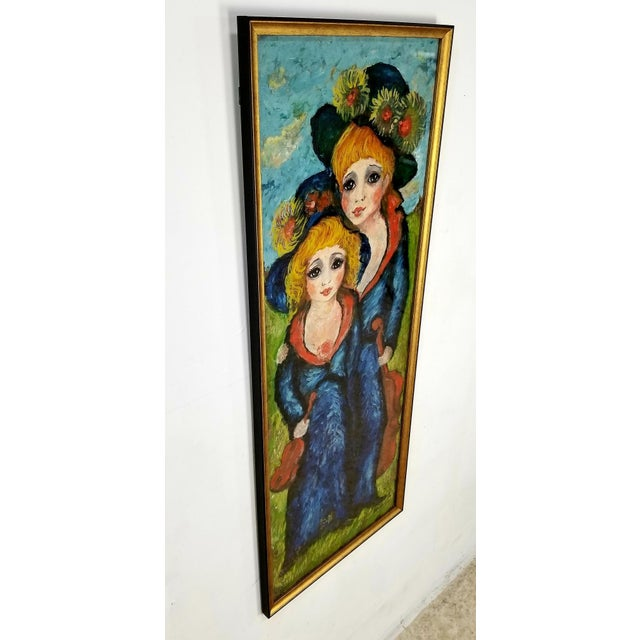 Amazing large original oil on canvas framed art by Artist Etienne, signed. This original painting has been professionally...