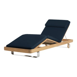 Harbor Adjustable Chaise in Sundeck Blue For Sale