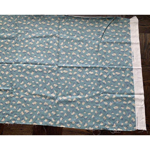 2010s 1 Yard Groundworks Feline Linen Fabric For Sale - Image 5 of 8