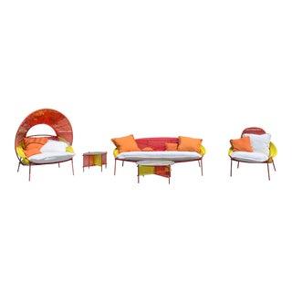 Roche Bobois Outdoor Traveler Furniture - Set of 5 For Sale