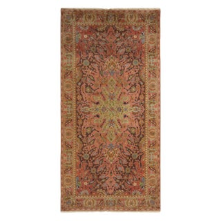 Antique Polonaise Traditional Wool Rug with Rare Rose Pink Colourways For Sale