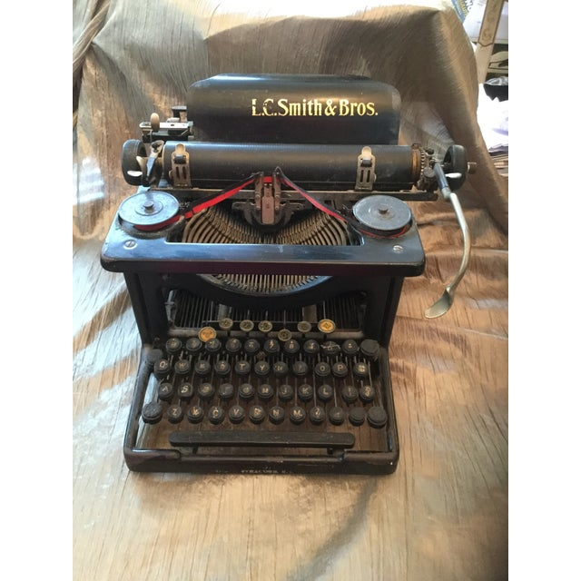 1910s Antique Smith Brothers Typewriter For Sale - Image 5 of 6
