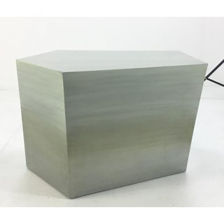 Modern Henredon Bilhuber k.r. Soft Sage Geometric Bunching Cocktail Tables - a Pair Preview
