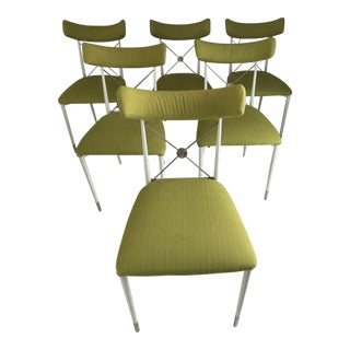 Jonathan Adler Chartreuse Rider Chairs - Set of 6 For Sale