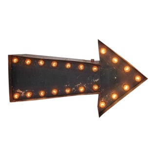 Vintage Double Sided Light Up Arrow Sign