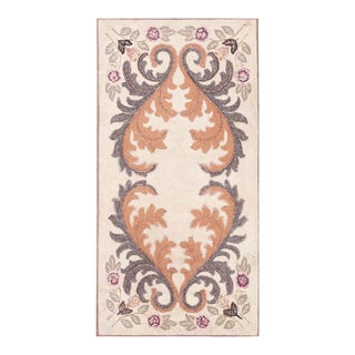 """Antique America Hooked Rug 3'2"""" X 6'1"""" For Sale"""