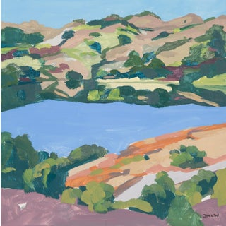 """Crystal Springs Reflections #2"" Original Landscape Painting by Jenny Wantuch For Sale"