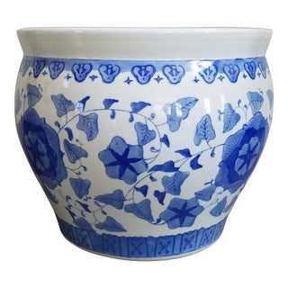 Chinoiserie Blue & White Planter For Sale