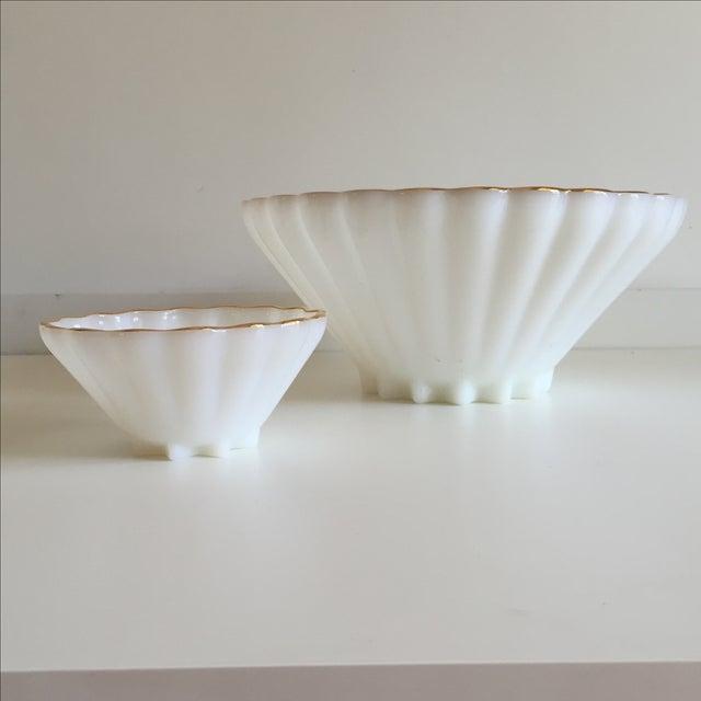 Classic Milk Glass Anchor Hocking Bowl Set - Pair - Image 6 of 10