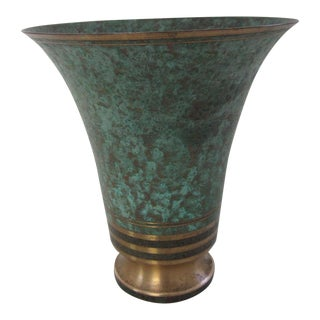 1930s Art Deco Carl Sorensen Bronze Vase For Sale