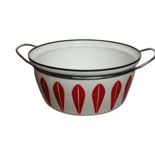 Mid-Century Modern Red Cathrineholm Enamel Pot