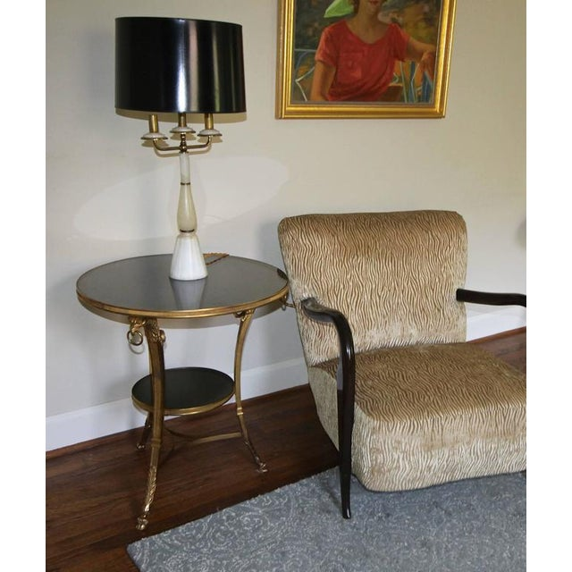 French Neoclassical Gilt Bronze Glass Eagle Gueridon Side Table For Sale - Image 10 of 11