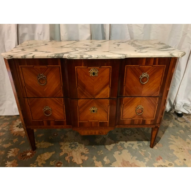 Brown Italian 19th Century Two Drawer Commode For Sale - Image 8 of 8