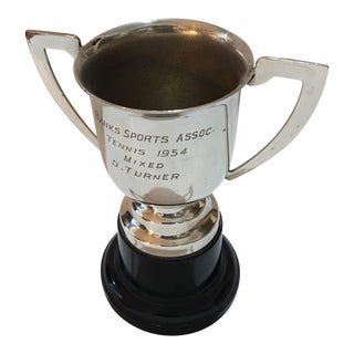 1954 Banks Sports Assn Mixed Tennis Trophy For Sale