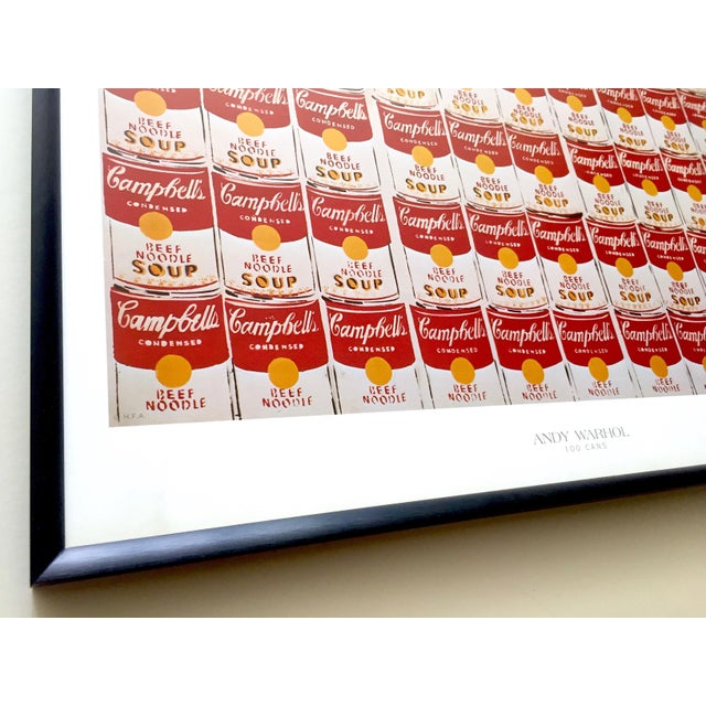 """Metal Andy Warhol Rare Vintage 1978 Iconic Lithograph Print Framed Collector's Pop Art Poster """" 100 Cans """" 1962 For Sale - Image 7 of 13"""