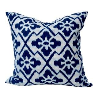 Vintage Woven Indigo Custom Pillow For Sale