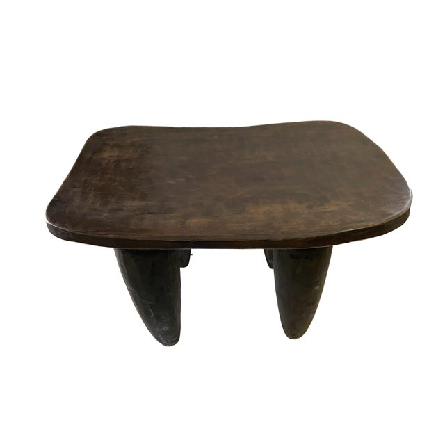 """African African Senufo Stool / Table I Coast 18"""" H by 26.5"""" W For Sale - Image 3 of 7"""