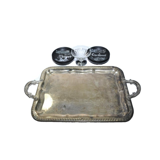 Ceramic Farmhouse Cheese Serving Tray & Bowls - Set of 6 For Sale - Image 7 of 8