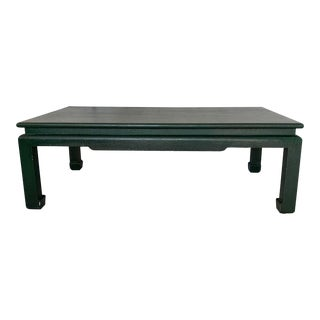 Minic Custom Woodwork Linen Grasscloth Wrapped Ming Coffee Table For Sale