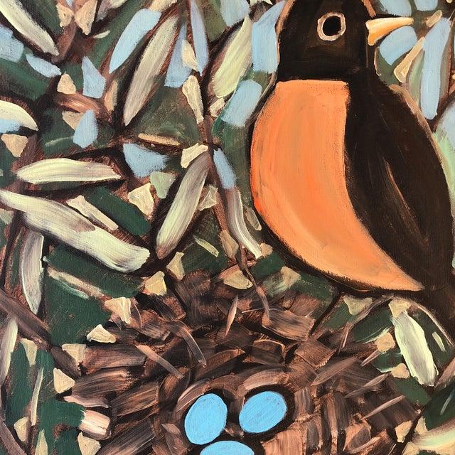Philadelphia Illustrator Stephen Heigh OriginalRobin's Egg Painting For Sale - Image 4 of 6