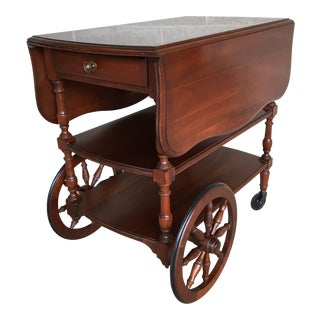 Pennsylvania House Solid Cherry Candlelight Finish Tea Cart For Sale