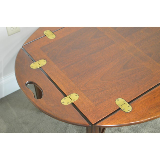 Chippendale Chippendale Style Mahogany Butlers Coffee Table For Sale - Image 3 of 13