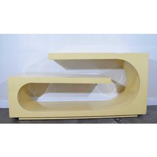 1980s Sculptural Console, Milo Baughman Preview