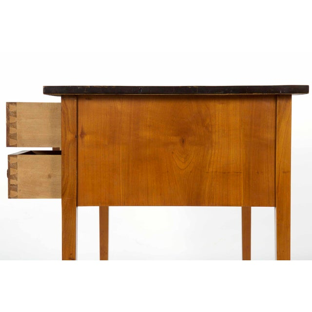 Late 19th Century Biedermeier Style Inlaid Fruitwood Writing Table For Sale - Image 5 of 13